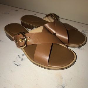 Michael Michael Kors brown sandal with buckle